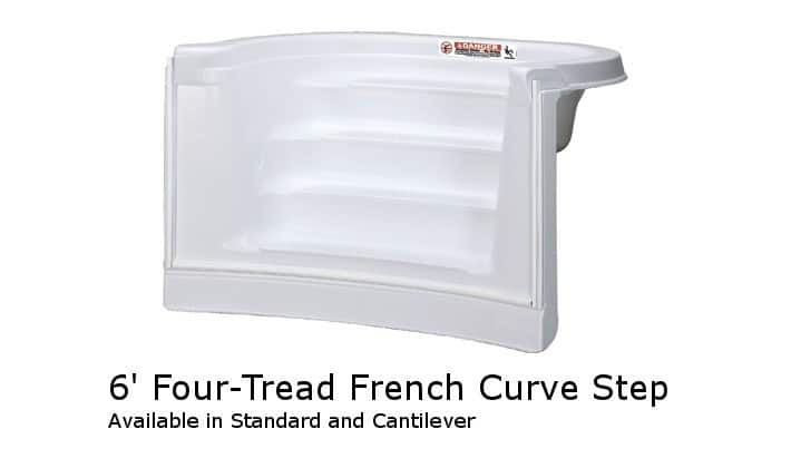 6' Four-Tread French Curve Step